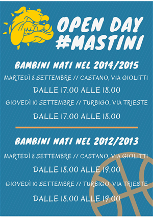 OPEN DAY BASKET MASTINI